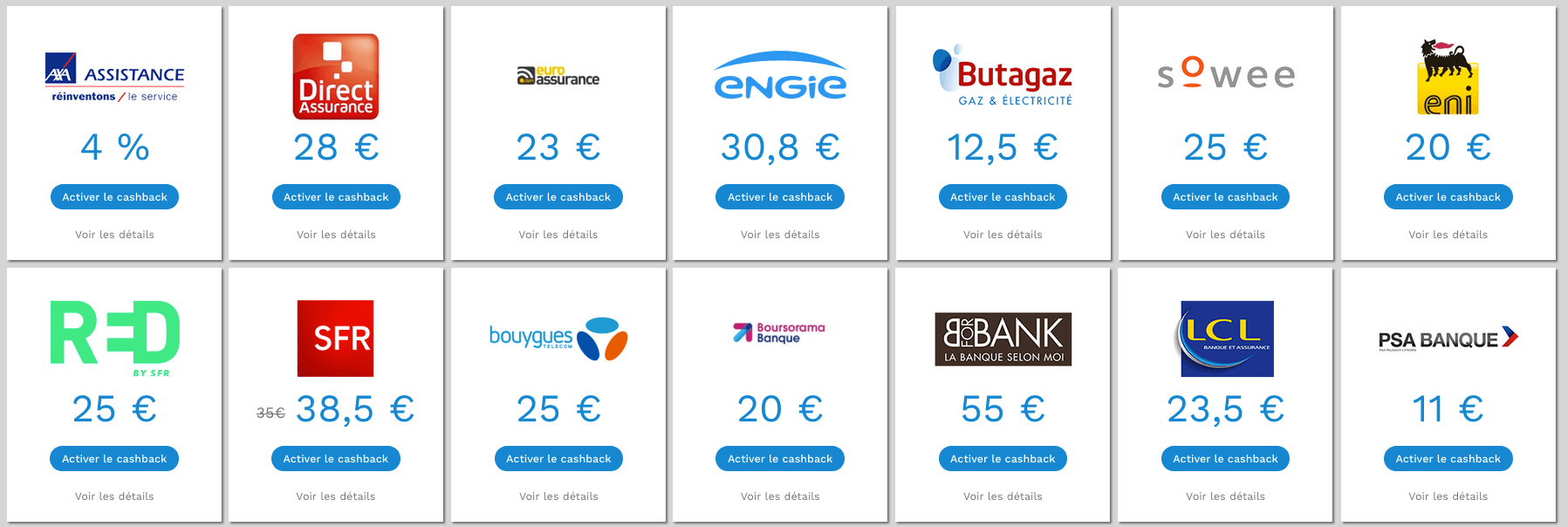 Marchands abonnements énergie banque assurances téléphonie internet Poulpeo