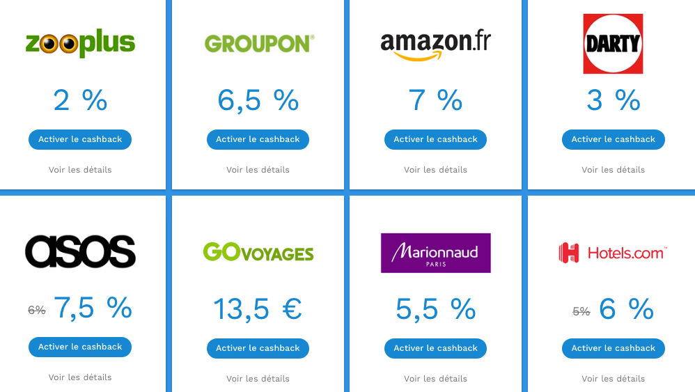 exemples cashback poulpeo